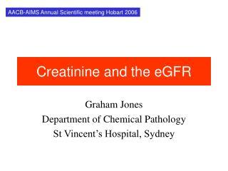 creatinine and the egfr