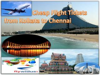 Cheap Flight Tickets from Kolkata to Chennai