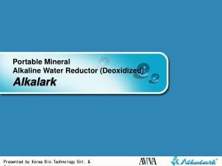 portable mineral  alkaline water reductor deoxidized   alkalark