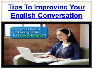 Get Easy Guide To Improve Your English Conversation
