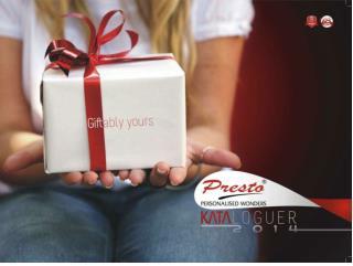 Presto Personalized Gifts Catalogue 2014