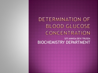 determination of blood glucose by alkaline copper reduction method