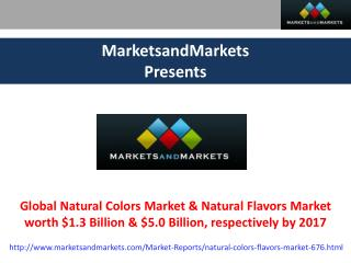 Natural Colors Market 2017