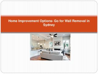 Wall Removal in Sydney