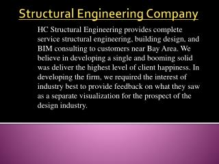 Structuring engineering company