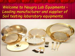 Choose Useful Range of Soil Testing Lab Equipments