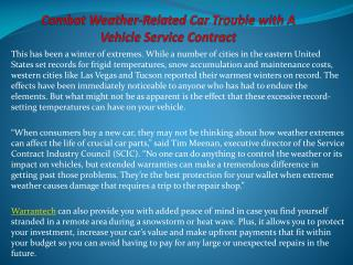 Combat Weather-Related Car Trouble With A Vehicle Service Co