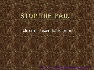 chronic lower back pain