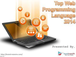 Top Web Development Programming Languages