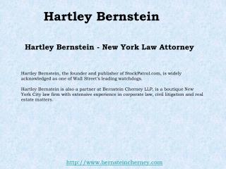 New York Lawyer - Hartley Bernstein