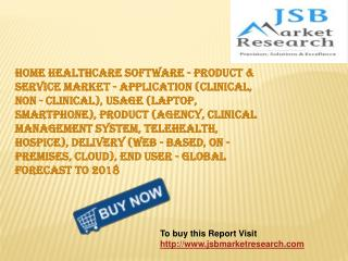 JSB Market Research: Home Healthcare Software - Product