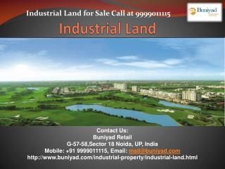 Large Industrial Lands available for sale in Noida