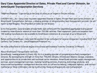 Gary Case Appointed Director of Sales