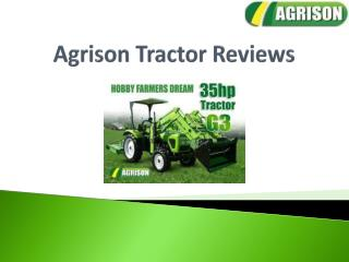 Agrison Tractor Reviews