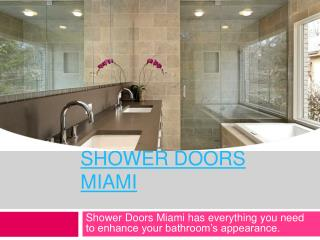 Shower Doors Fort Lauderdale