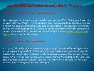 Juju OAuth2 Application Security Design Proposal