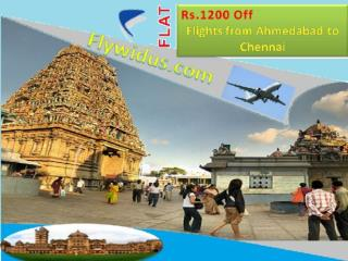 Flights from Ahmedabad to Chennai