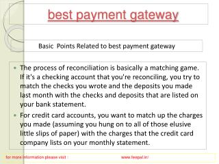 Assign a category for best payment gateway
