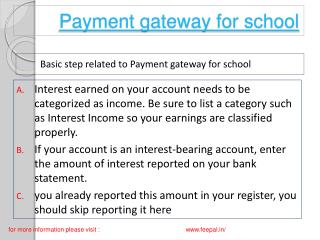 Smart and easy tips to payment gateway for school