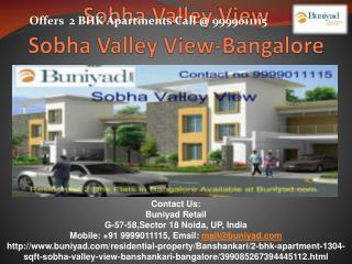 Sobha Valley View, Sobha Valley View Bangalore