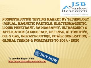 JSB Market Research: Nondestructive Testing Market by Techn