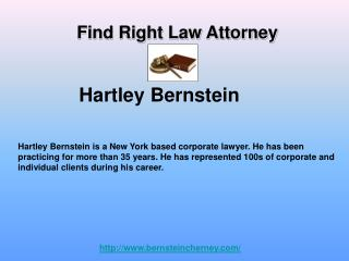 Hartley Bernstein - Corporate Lawyer