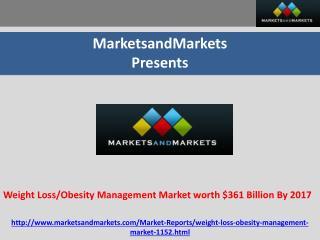 Weight Loss/Obesity Management Market worth $361 Billion