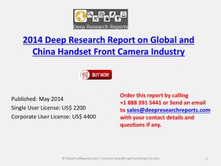 Global and Chinese Handset Front Camera Market 2019 Forecast