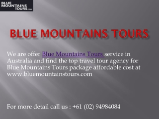 Enjoy Top incredible Blue Mountains Trip in Sydney