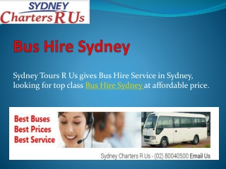 Affordable Bus Hire and Coach Hire Service in Sydney