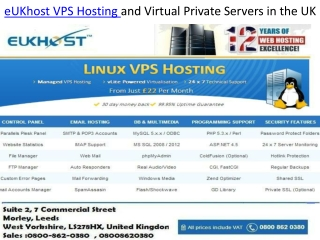 eUKhost VPS Hosting and Virtual Private Servers in the UK
