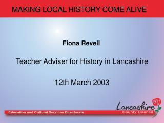 making local history come alive