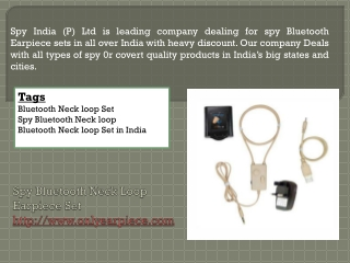 Spy Bluetooth Earpiece for secirity
