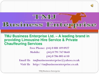 Rent For Wedding Car At London - TMJ Business Enterprise