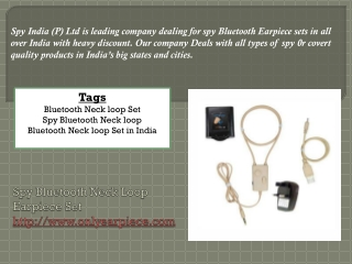 Spy Bluetooth products
