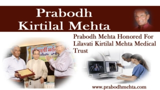 Healthcare and Diamonds Brighten Prabodh Mehta