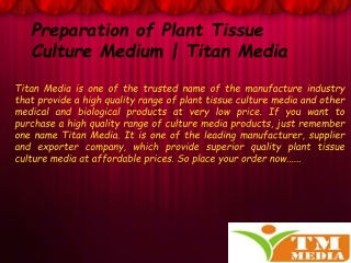 How Plant Tissue Culture Media Are Useful?