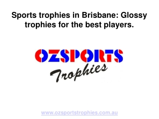 OzSports Trophies: Custom Awards and Trophies in Brisbane