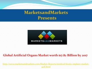 Global Artificial Organs Market by 2017