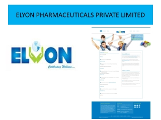 Elyon Pharmaceuticals-Best Pharmaceuticals Product Manufactu
