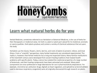 Liquid Vitamins and Supplements