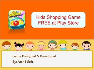 Kids Shopping Game FREE at Play Store