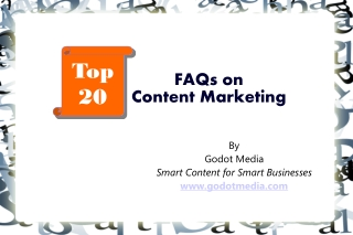 Top 20 FAQs on Content Marketing