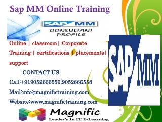 Sap MM Online Training in canada,pune