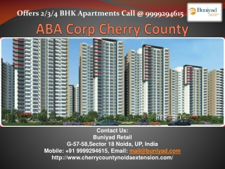 Find Preeminence Apartments in Cherry County Noida
