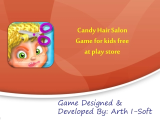 Candy Hair Salon Game for Kids FREE at Play Store