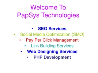 SEO Services Bangalore Provider Company - PapSys Technologie