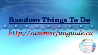 Random Things To Do