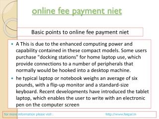 online fee payment niet