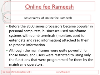 Online fee Rameesh